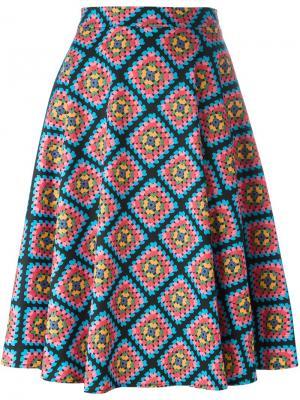 Широкая юбка с принтом Ultràchic. Цвет: многоцветный