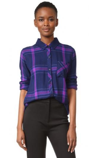 Рубашка на пуговицах Hunter RAILS. Цвет: темно-синий/ультрафиолетовый