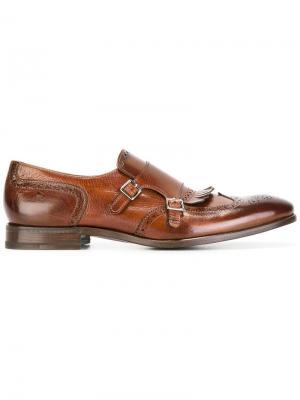 Ботинки-монки с перфорацией Henderson Baracco. Цвет: коричневый