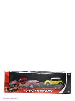Машинки с прицепом в масштабах 1к43 и 1к32 Красная желтая HTI. Цвет: красный