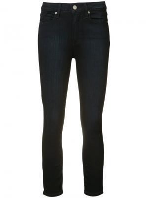 Укороченные джинсы с высокой талией Hoxton Paige. Цвет: синий