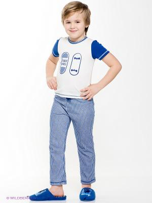 Пижама Lucky Child. Цвет: белый, темно-синий