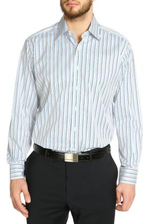 Рубашка Dormeuil. Цвет: белый, полоска мультиколор