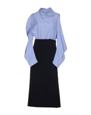 Длинное платье A.W.A.K.E.. Цвет: синий