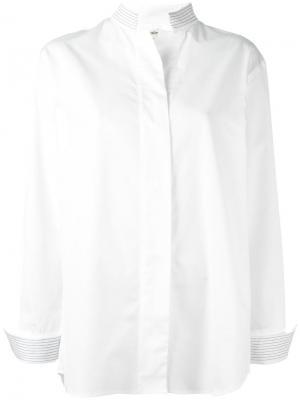Классическая рубашка Toteme. Цвет: белый