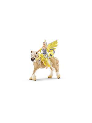 Эльф Сера в праздничном платье SCHLEICH. Цвет: бежевый, желтый, фиолетовый