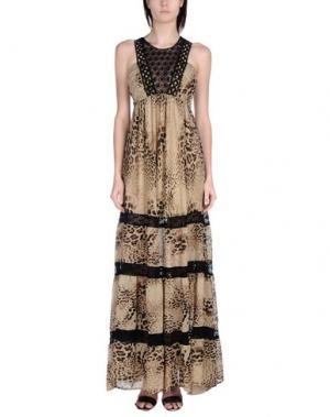 Длинное платье ANNARITA N.. Цвет: хаки