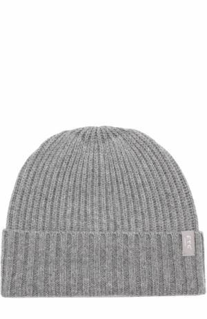 Кашемировая шапка фактурной вязки FTC. Цвет: серый