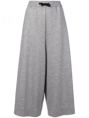 Укороченные брюки Maison Margiela. Цвет: серый