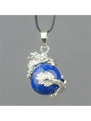 Кулон со шнурком Сфера лазурит Колечки. Цвет: синий