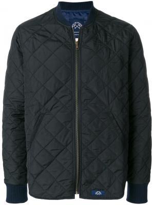 Стеганая куртка-бомбер Bleu De Paname. Цвет: чёрный