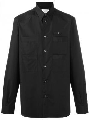 Рубашка с передними карманами Maison Margiela. Цвет: чёрный