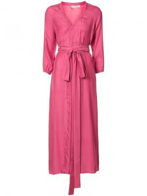 Платье с запахом Rhode Resort. Цвет: розовый и фиолетовый