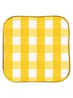 Подушка на табурет, 34х34х2 см. DEKORTEX. Цвет: желтый, белый