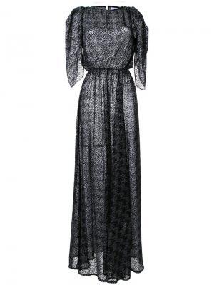 Платье Houndstooth Bianca Spender. Цвет: металлический