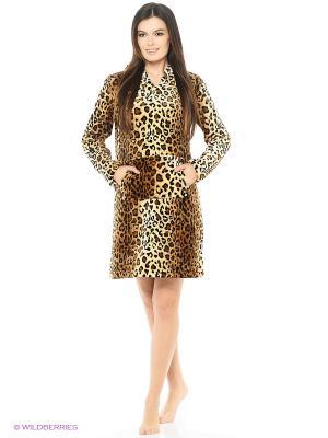 Платье SALHAM. Цвет: коричневый