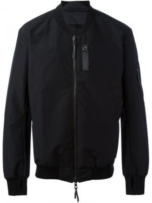 Куртка-бомбер с прорезями для больших пальцев 11 By Boris Bidjan Saberi. Цвет: чёрный