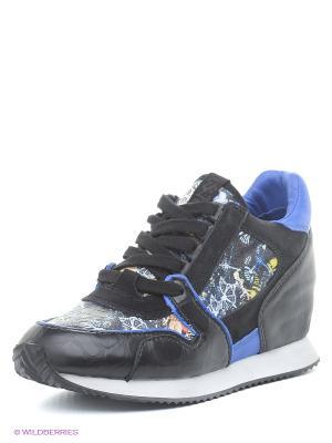Сникеры ASH. Цвет: черный, синий
