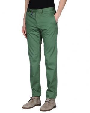 Повседневные брюки G.T.A. MANIFATTURA PANTALONI. Цвет: изумрудно-зеленый