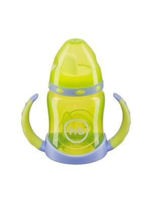 Поильник с двумя тренировочными клапанами ERGO CUP Happy Baby. Цвет: салатовый