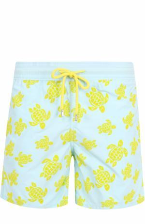 Плавки-шорты с принтом Vilebrequin. Цвет: бирюзовый