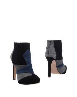 Полусапоги и высокие ботинки PURA LÓPEZ. Цвет: черный