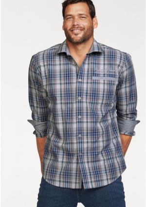 Рубашка MANS WORLD MAN'S. Цвет: серый/синий/мятный в клетку