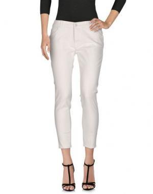 Джинсовые брюки-капри PEOPLE LAB.. Цвет: белый