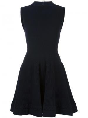 Расклешенное платье Alaïa Vintage. Цвет: синий