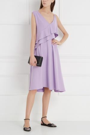 Платье с воланами Chapurin. Цвет: сиреневый