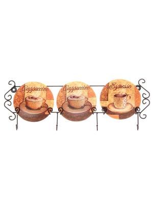 Тарелка настенная Оливковое масло, 3 шт. Elan Gallery. Цвет: бежевый, зеленый, коричневый