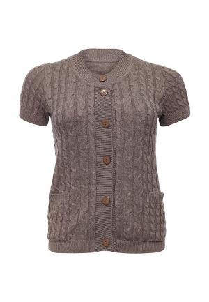 Кардиган Milana Style. Цвет: коричневый