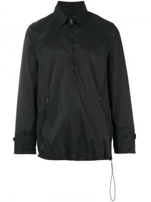Легкая куртка с воротником на молнии Our Legacy. Цвет: чёрный