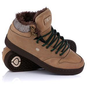 Кеды кроссовки утепленные  Lurker Camel/Brown Tweed/Fur Circa. Цвет: коричневый