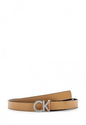 Ремень Calvin Klein Jeans. Цвет: бежевый