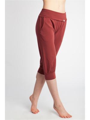 Бриджи Кантри yogadress. Цвет: бордовый, коричневый