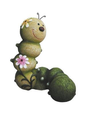 Фигурка садовая Гусеница GREEN APPLE. Цвет: зеленый
