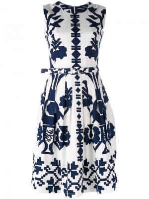 Flared sleeveless dress Samantha Sung. Цвет: белый
