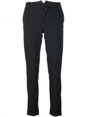 Узкие брюки Masnada. Цвет: чёрный