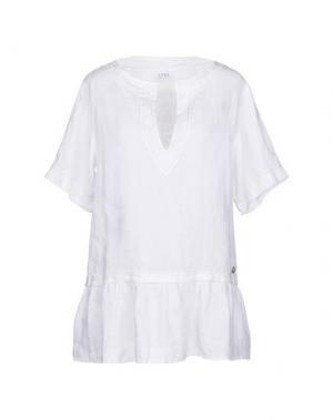 Блузка LA FABBRICA del LINO. Цвет: белый