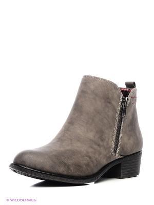 Ботинки S.OLIVER. Цвет: серый