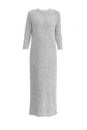 Платье из шерсти 153300 Norsoyan. Цвет: серый