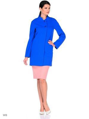Пальто FORTUNA. Цвет: синий