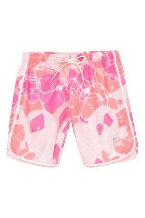 Розовые пляжные шорты Reima. Цвет: розовый
