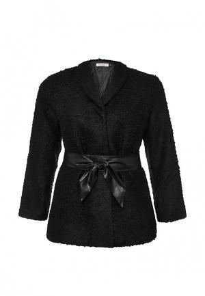 Пальто Lamania Elegant. Цвет: черный