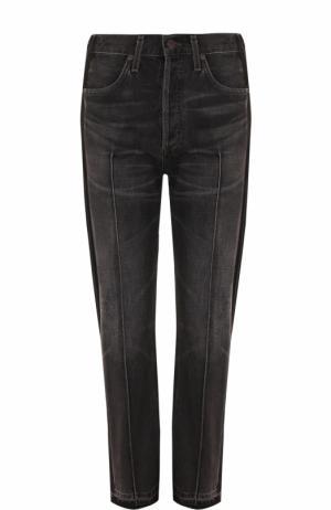 Укороченные джинсы прямого кроя с потертостями Citizens Of Humanity. Цвет: черный
