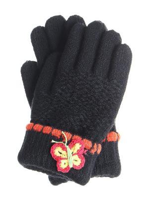 Перчатки детские Migura. Цвет: черный, оранжевый