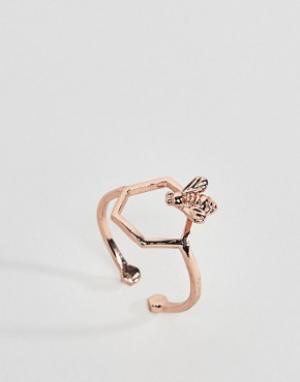 Bill Skinner Покрытое розовым золотом кольцо. Цвет: золотой