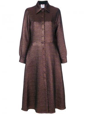 Удлиненное платье-рубашка Ultràchic. Цвет: многоцветный