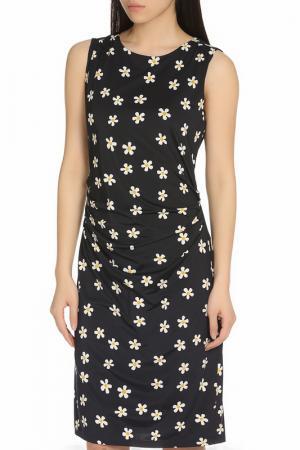 Прилегающее летнее платье YUMI. Цвет: navy